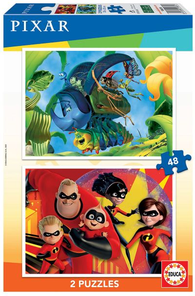 2X48 PIXAR (A BUG'S LIFE + THE INCREDIBLES) Ref. 18634
