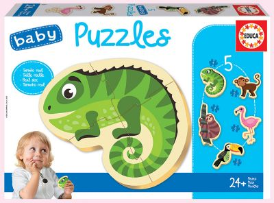 PUZZLES ANIMALES TROPICALES BABY Ref. 18587
