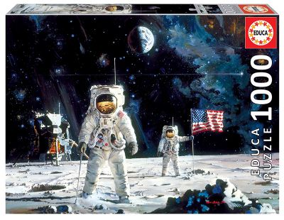 FIRST MEN ON THE MOON, ROBERT MCCALL REF: 18459